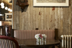 Bar details drinks seating flowers timber panels